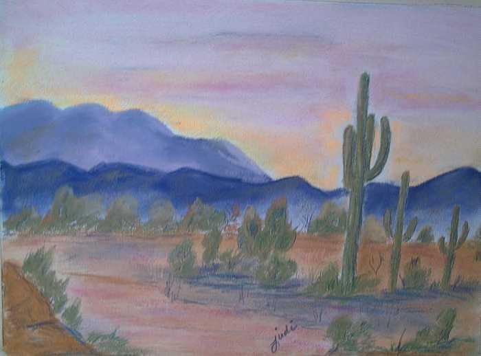 Desert Painting - Desert Aglow by Judi Pence