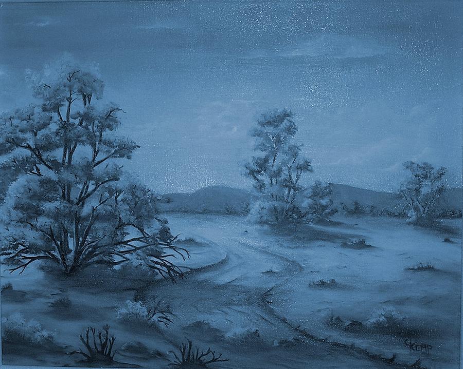 Desert Blues Digital Art by Chuck Kemp