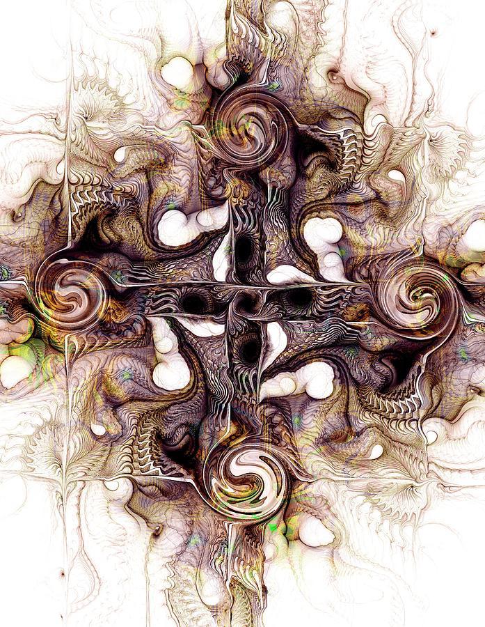 Malakhova Digital Art - Desert Cross by Anastasiya Malakhova