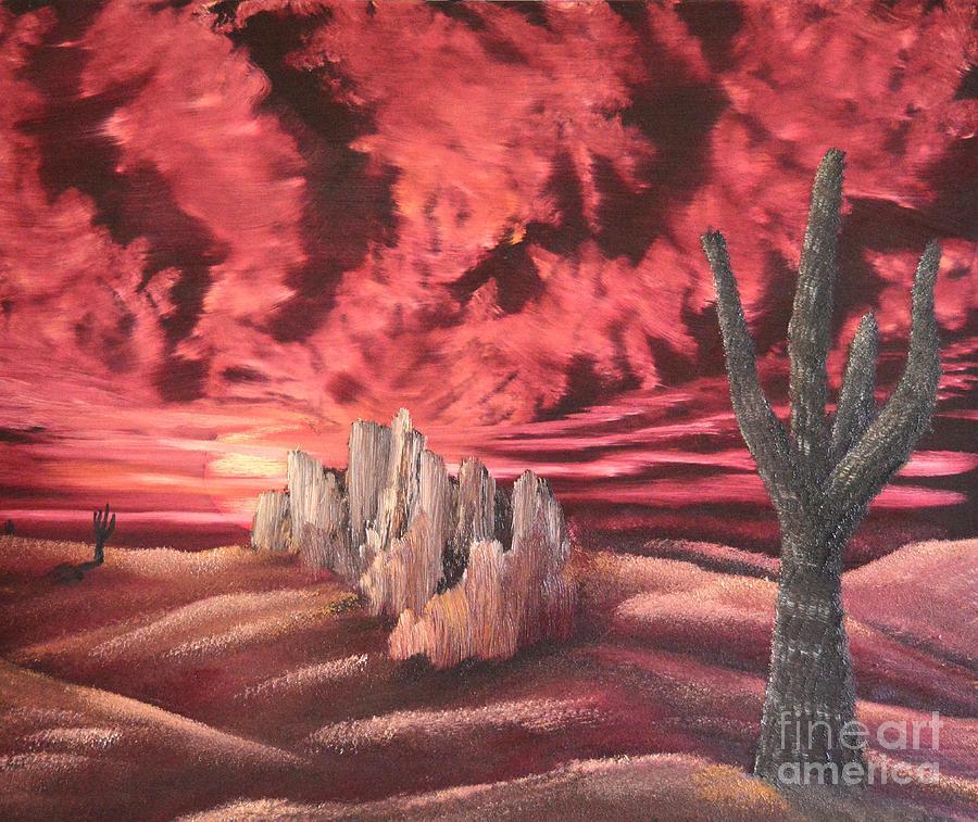 Sky Painting - Desert Fury by John Kemp