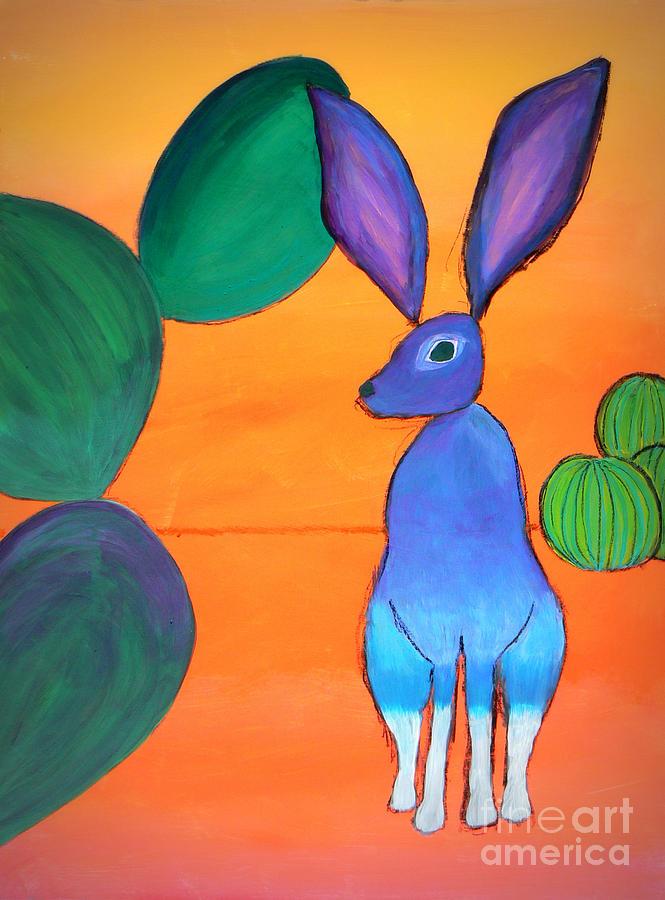 Desert Painting - Desert Jackrabbit by Karyn Robinson