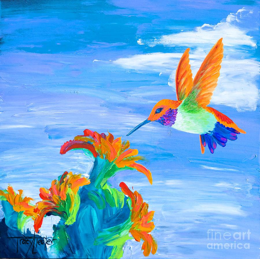 Hummingbird Pastel - Desert Jewel by Tracy L Teeter
