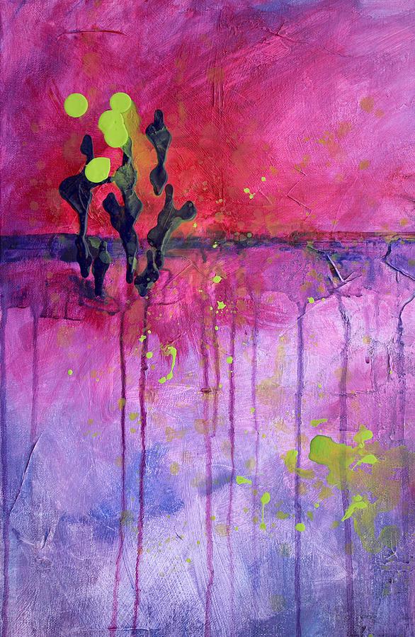 Desert Painting - Desert Landscape Abstract by Nancy Merkle