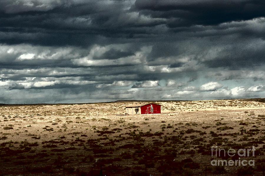 Red Barn Photograph - Desert Landscape by Julie Lueders