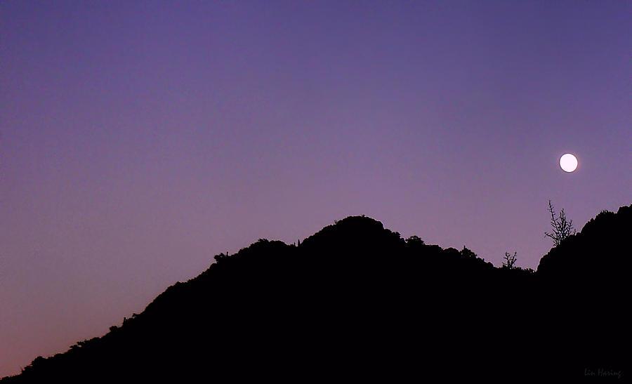 Mountain Photograph - Desert Moonrise  by Lin Haring