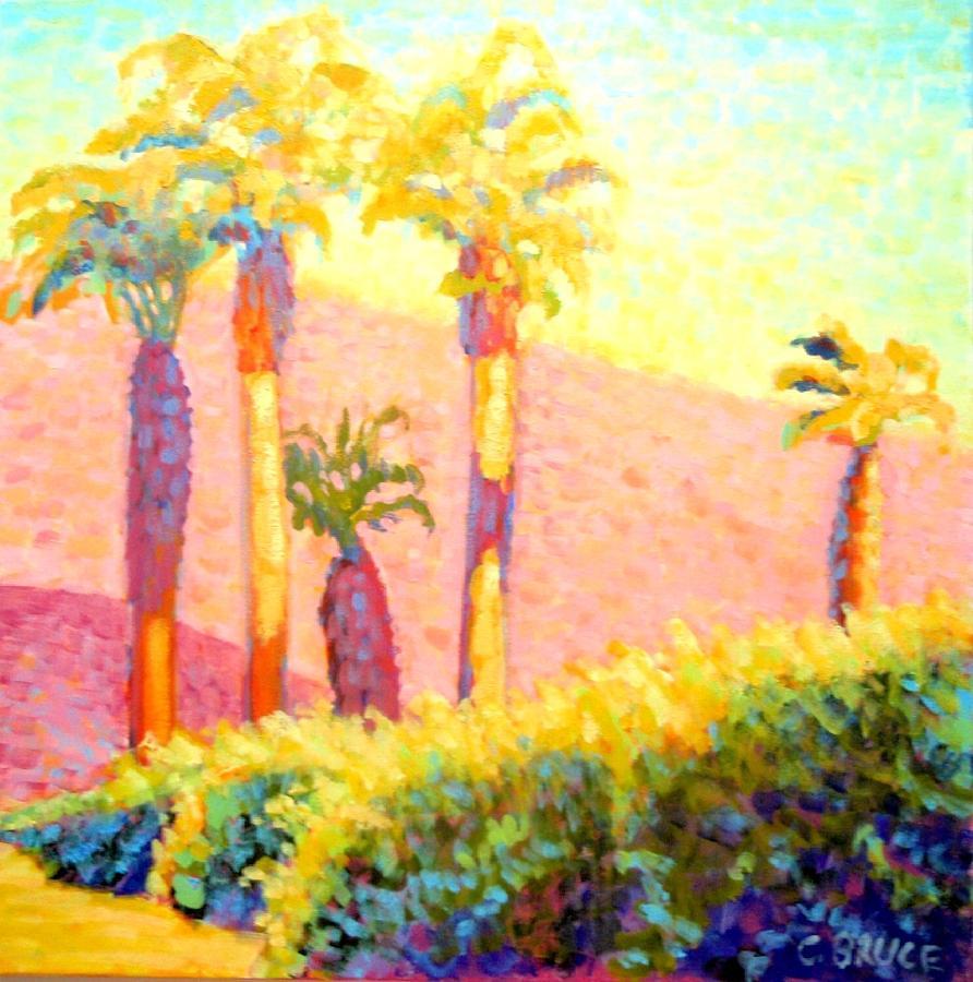 Plein Painting - Desert Morning Palms by Craig  Bruce