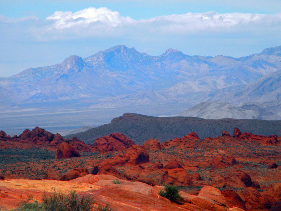 Desert Mountain Vista Photograph