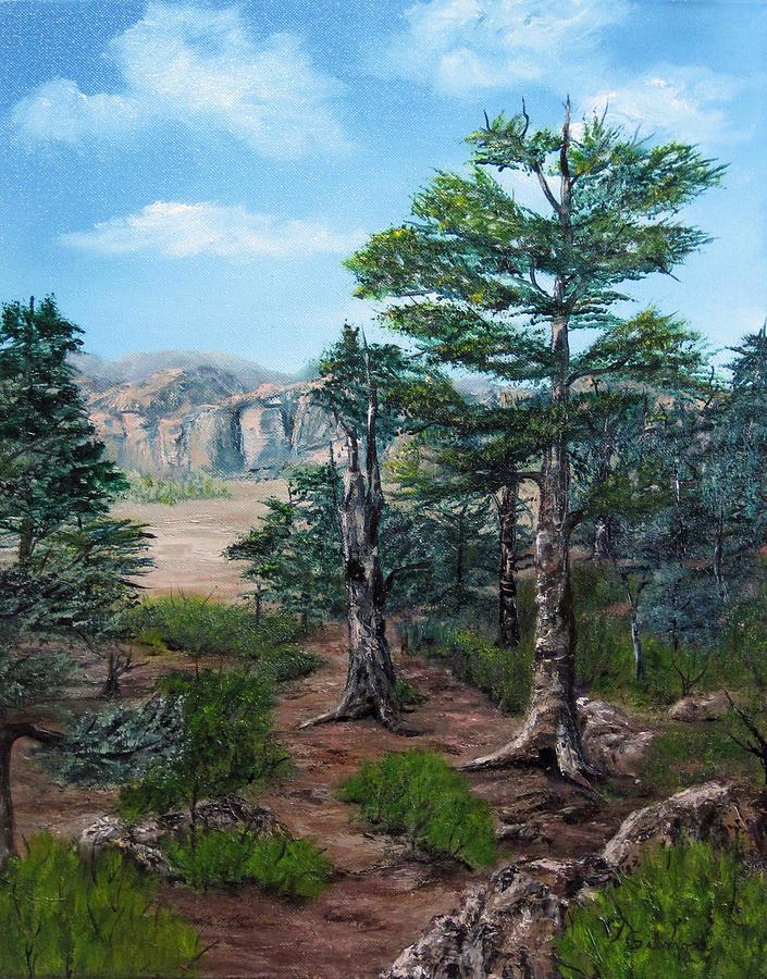 Desert Landscape Painting - Desert Overlook by Roseann Gilmore