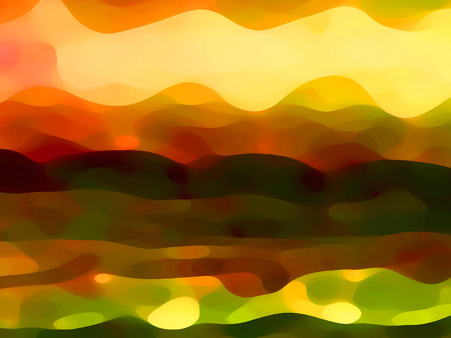 Bold Painting - Desert Pattern 2 by Amy Vangsgard