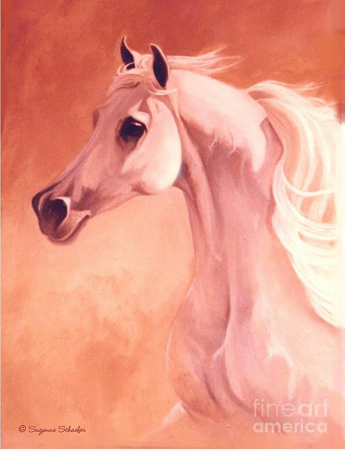 Horses Painting - Desert Prince Arabian Stallion by Suzanne Schaefer
