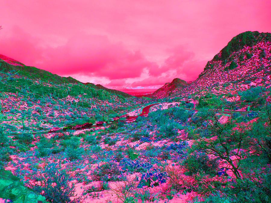 Western Landscape Digital Art - Desert Red by Joseph Wiegand