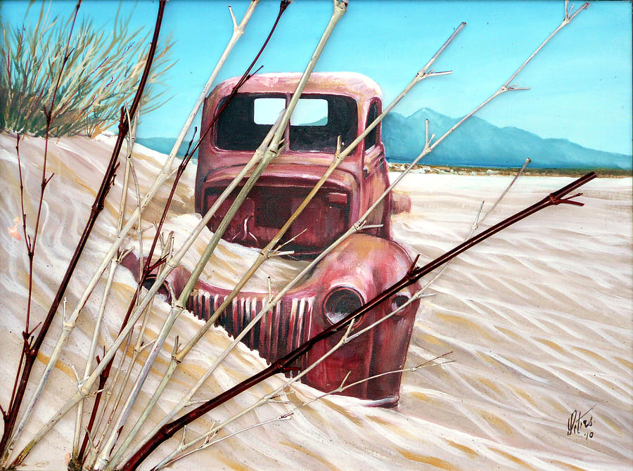 Truck Painting - Desert Rose by Gregory Peters