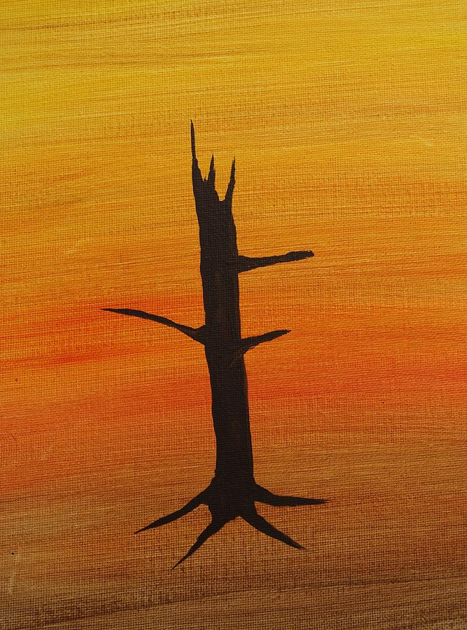 Tree Painting - Desert Sentinal by Keith Nichols