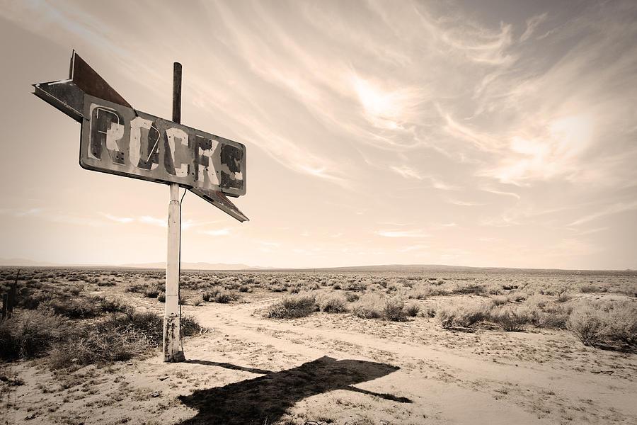 Sign Photograph - Desert Sign by Rick Rhay
