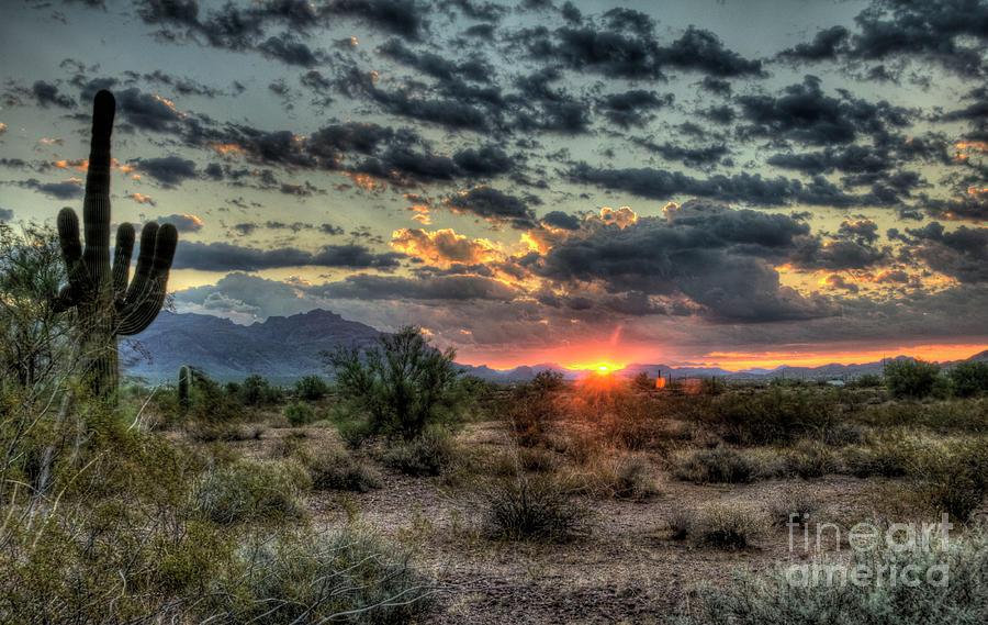 Arizona Photograph - Desert Sunrise  by Saija  Lehtonen