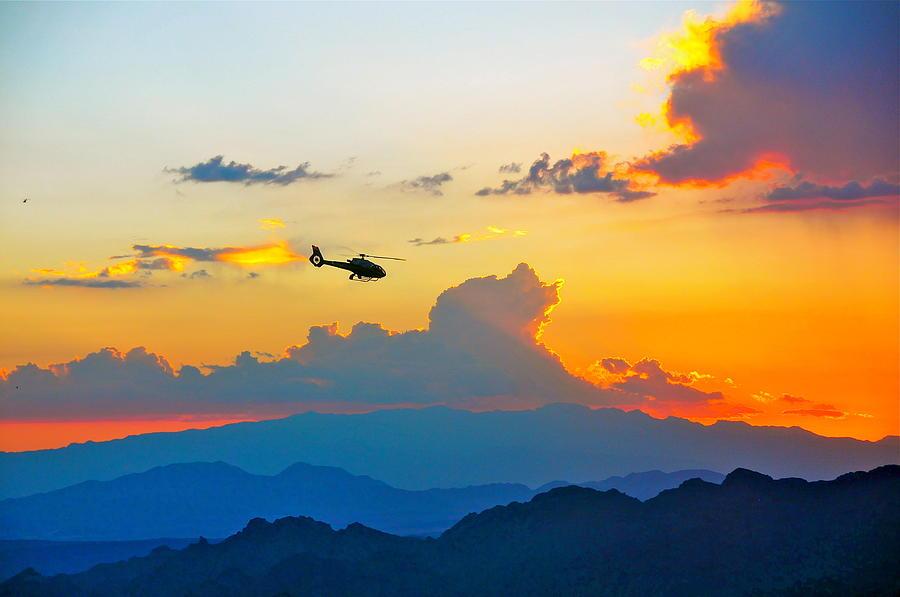 Flying Photograph - Desert Sunset by Amanda Miles