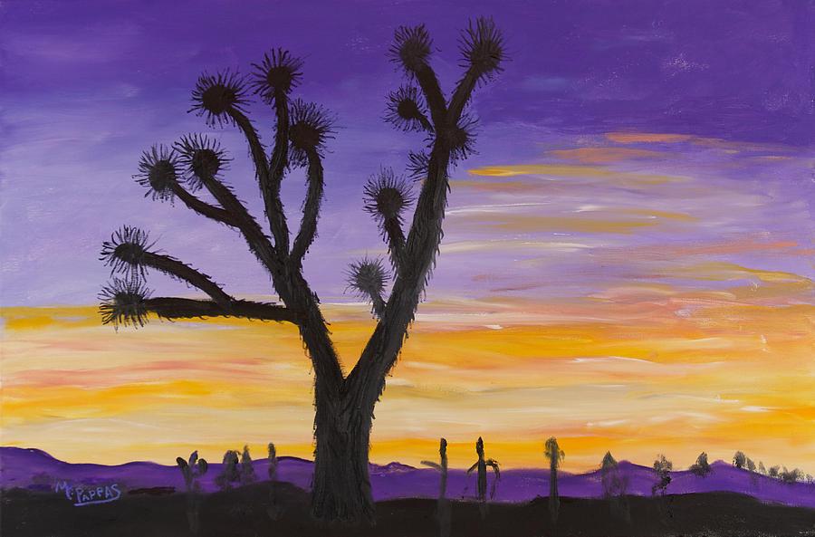 Desert Sunset Painting - Desert Sunset by Margaret Pappas