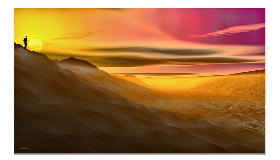Desert Digital Art - Desert Sunset by Tyler Robbins