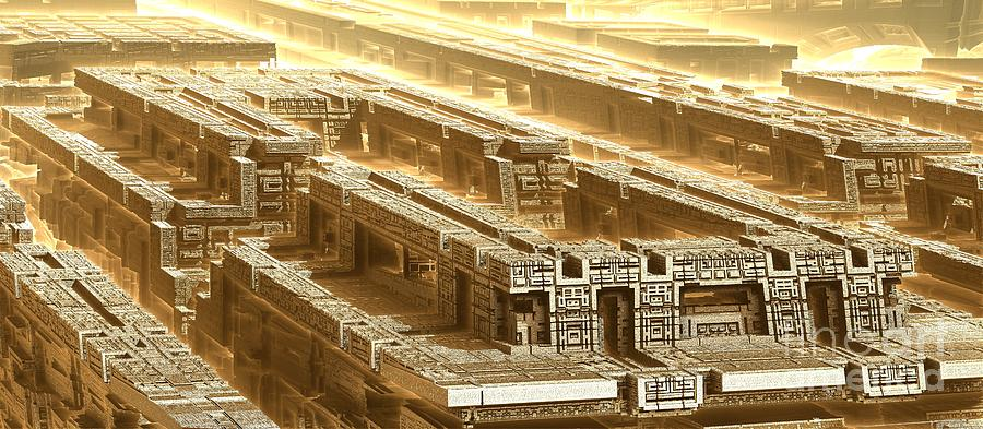 Digital Digital Art - Desert Temple by Bernard MICHEL