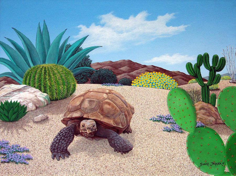 Tortoise Painting - Desert Tortoise by Snake Jagger