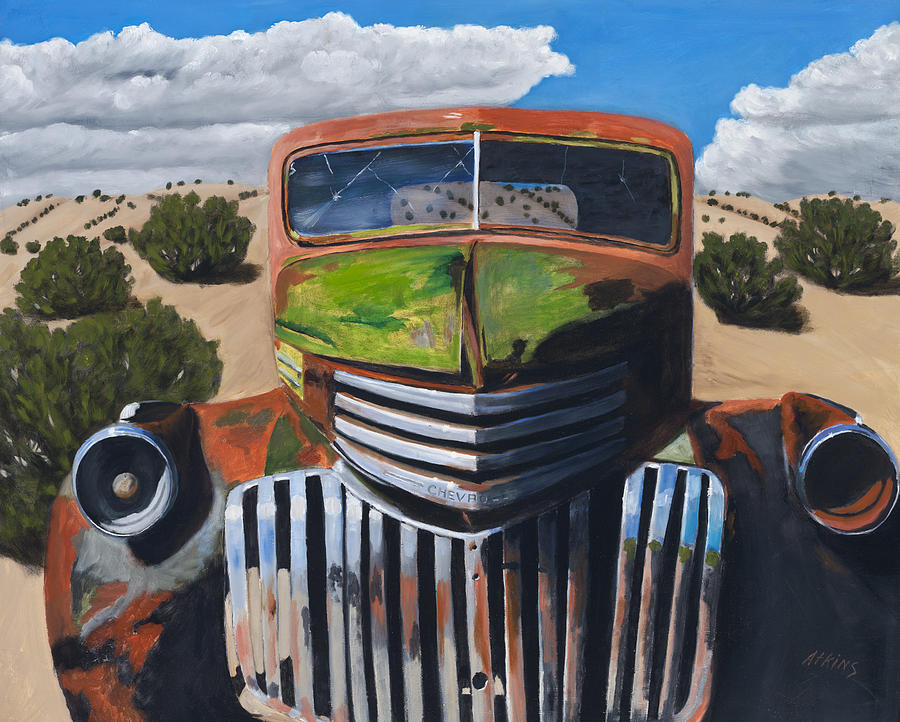 Truck Painting - Desert Varnish by Jack Atkins