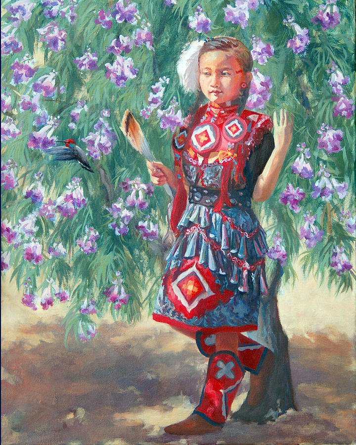 Native American Painting - Desert Willow by Christine Lytwynczuk