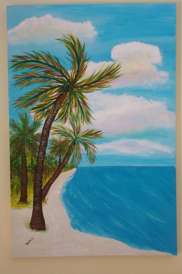 Deserted Beach Painting by Patti Lauer