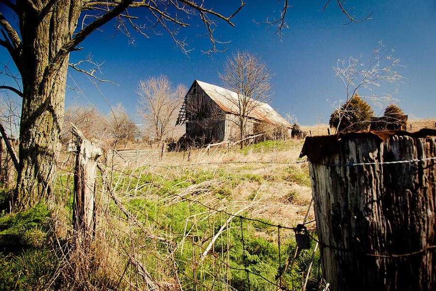 Barn Photograph - Deserted Farm by Karen Varnas