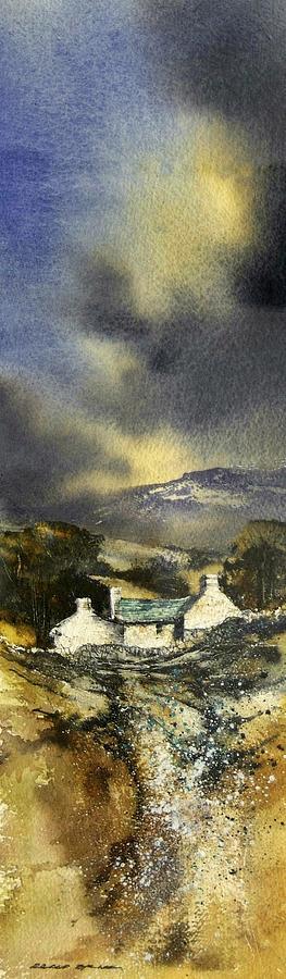 Landscape Painting - Deserted Farm West Cork by Roland Byrne