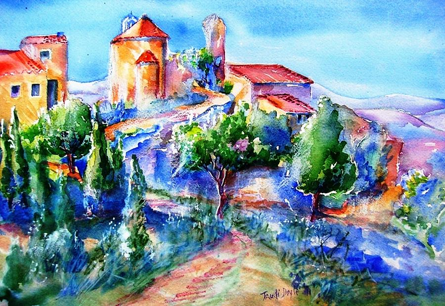 Landscape Painting - Deserted Village Of Perillos  by Trudi Doyle