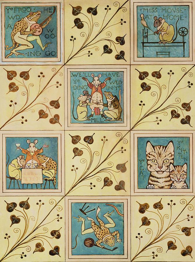 Voysey Painting - Design For Nursery Wallpaper by Voysey