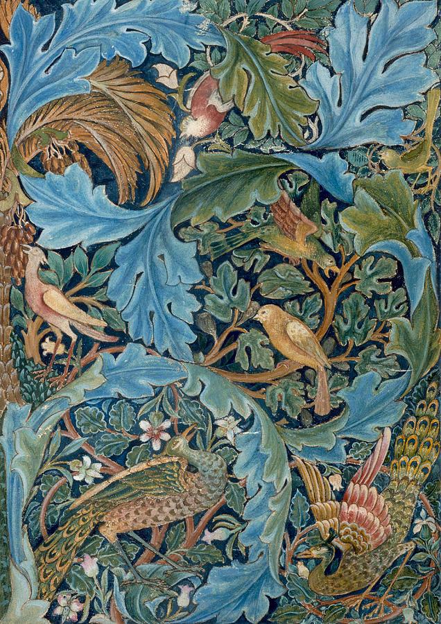William Morris Painting - Design for tapestry by William Morris