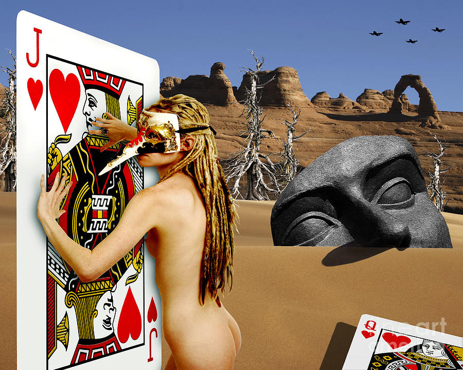 Landscape Digital Art - Desire And The Jack Of Hearts by Keith Dillon