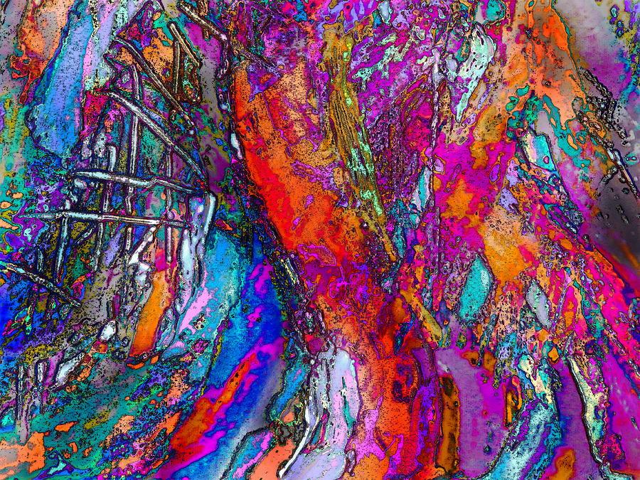 Colorful Digital Art - Desire  by Priscilla Batzell Expressionist Art Studio Gallery