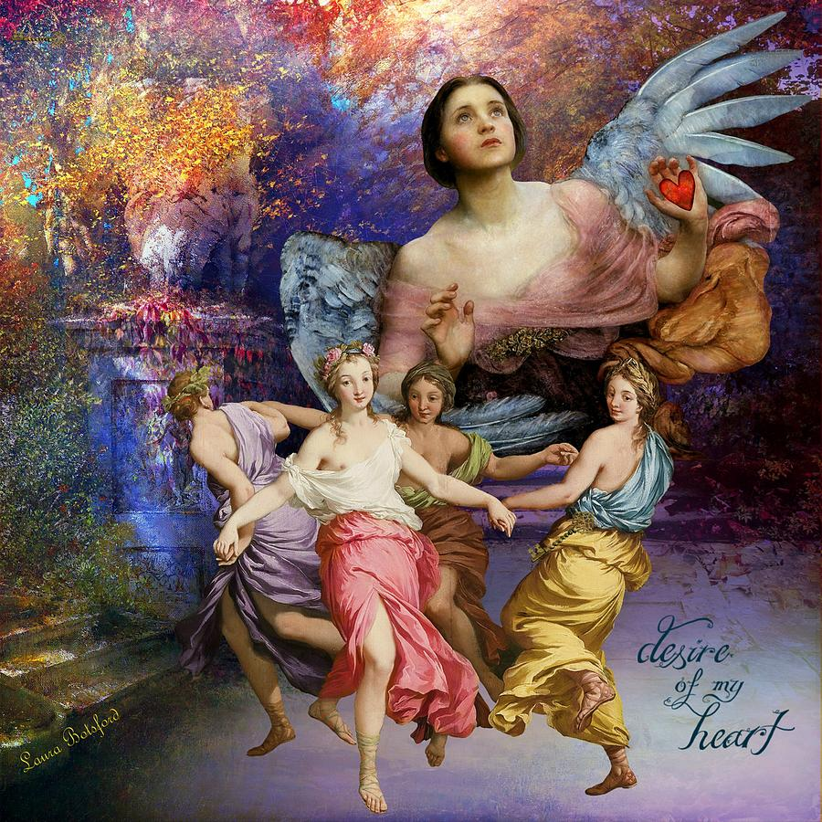 Angels Painting - Desire of My Heart by Laura Botsford