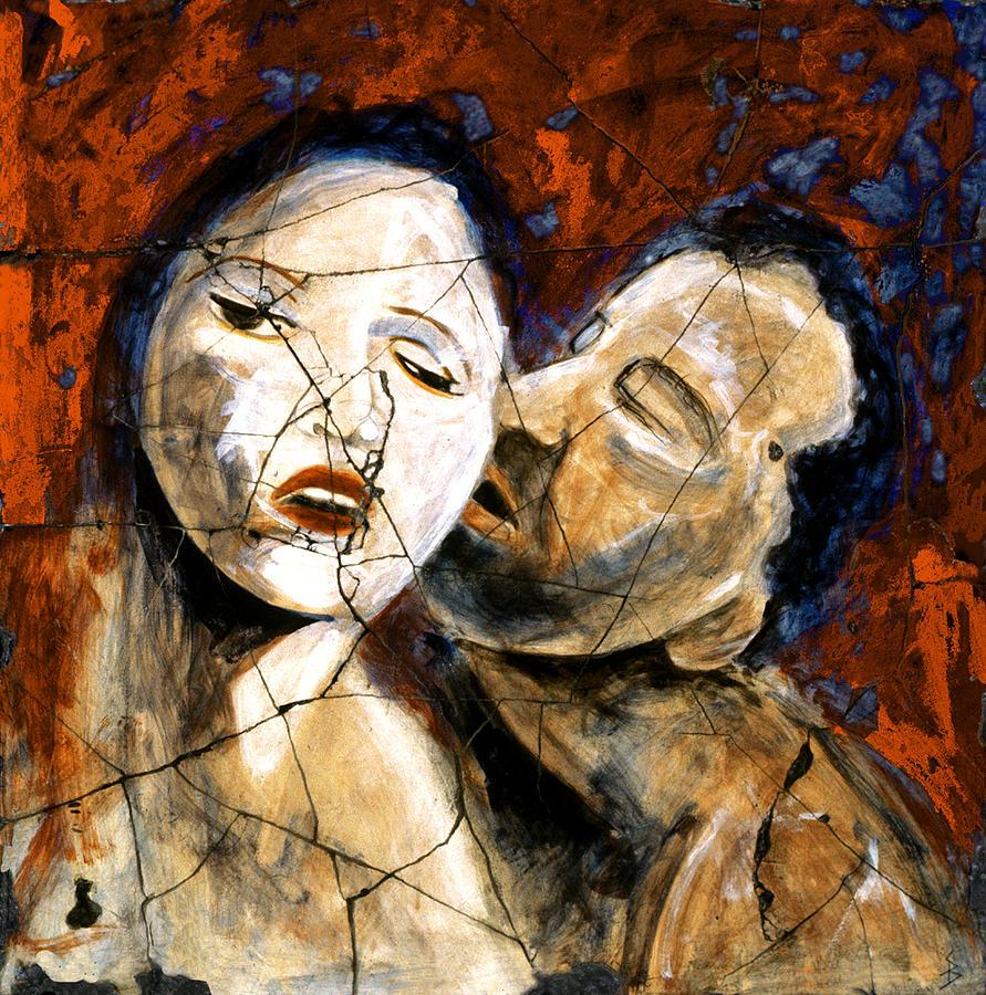 Portrait Painting - Desire - Study No. 2 by Steve Bogdanoff