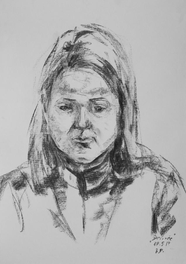 Girl Drawing - Desiree by Barbara Pommerenke