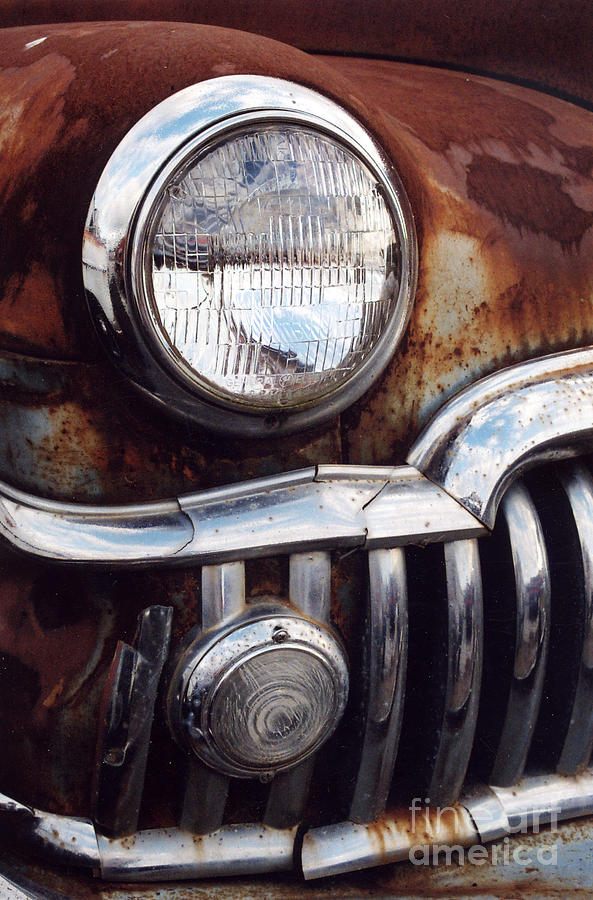 Car Photograph - Desoto Headlight by Crystal Nederman