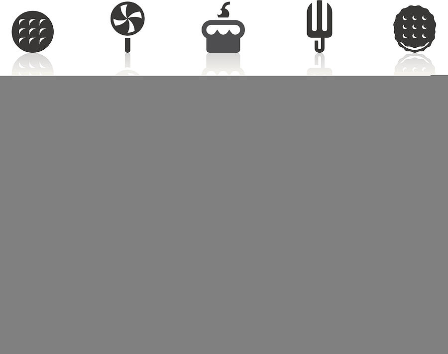 Dessert Icons | Simple Black Series Drawing by ChengChiLin