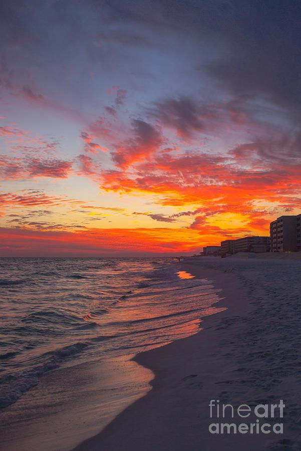 Destin Photograph - Destin Sunset by Kay Pickens