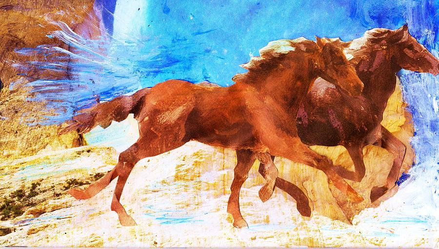 Mixed Media Painting - Destination Bound by Anne-Elizabeth Whiteway