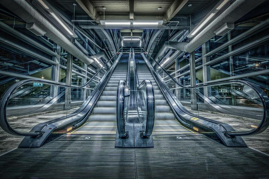 Escalator Photograph - Destiny by Everet Regal