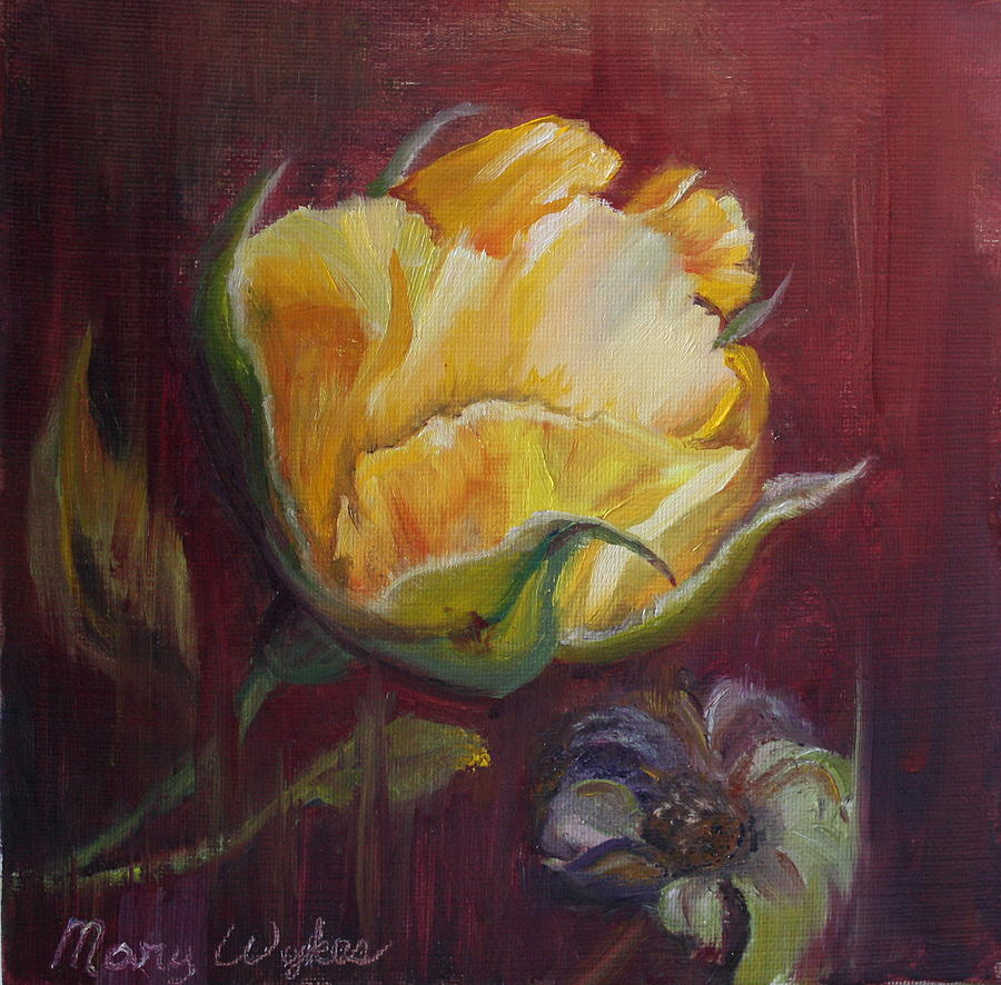 Rose Painting - Destiny by Mary Beglau Wykes