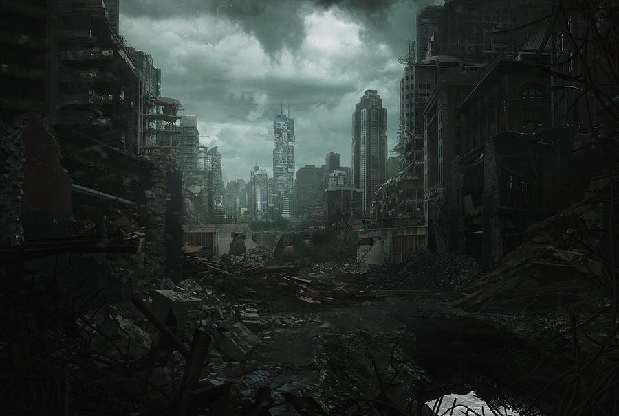 Destroyed Cityscape Photograph by Everlite