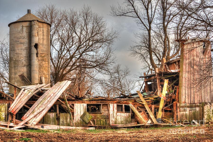 Illinois Photograph - Destruction Barn by Deborah Smolinske