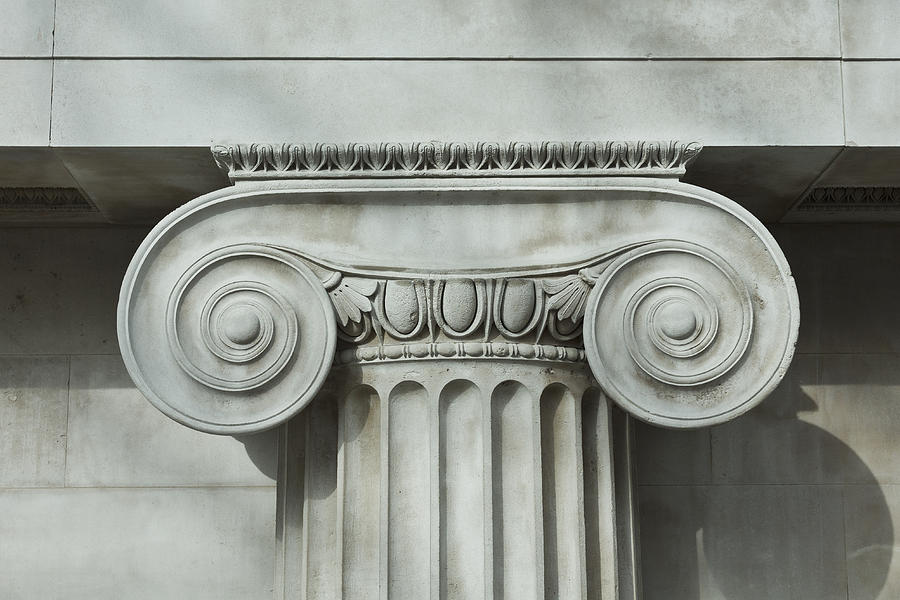 Detail an ionic column Photograph by Norman Posselt