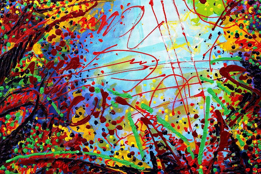 Abstract Painting - Detail From  To Make Visible The Invisible  II by John  Nolan