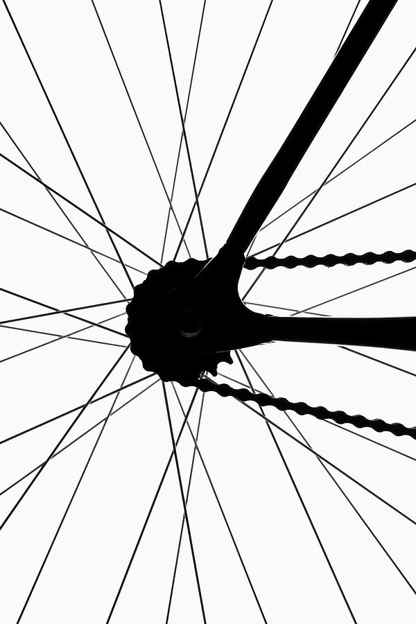 Detail Of A Bicycle Wheel, Back Lit Photograph by Epoxydude