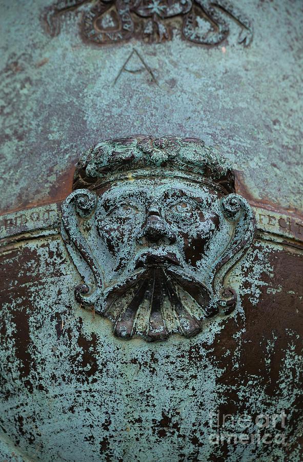 Weapon Photograph - Detail Of A Bronze Mortar by Edward Fielding