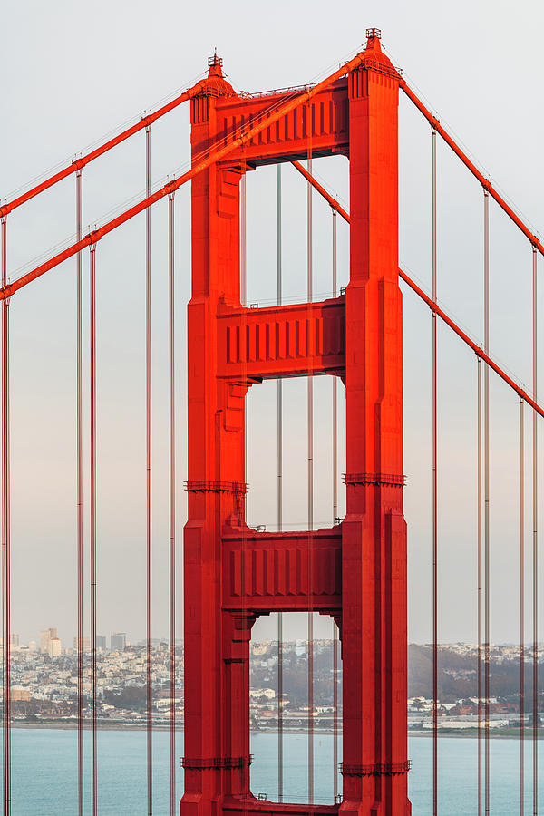 Detail Of Golden Gate Bridge, San Photograph by Deimagine